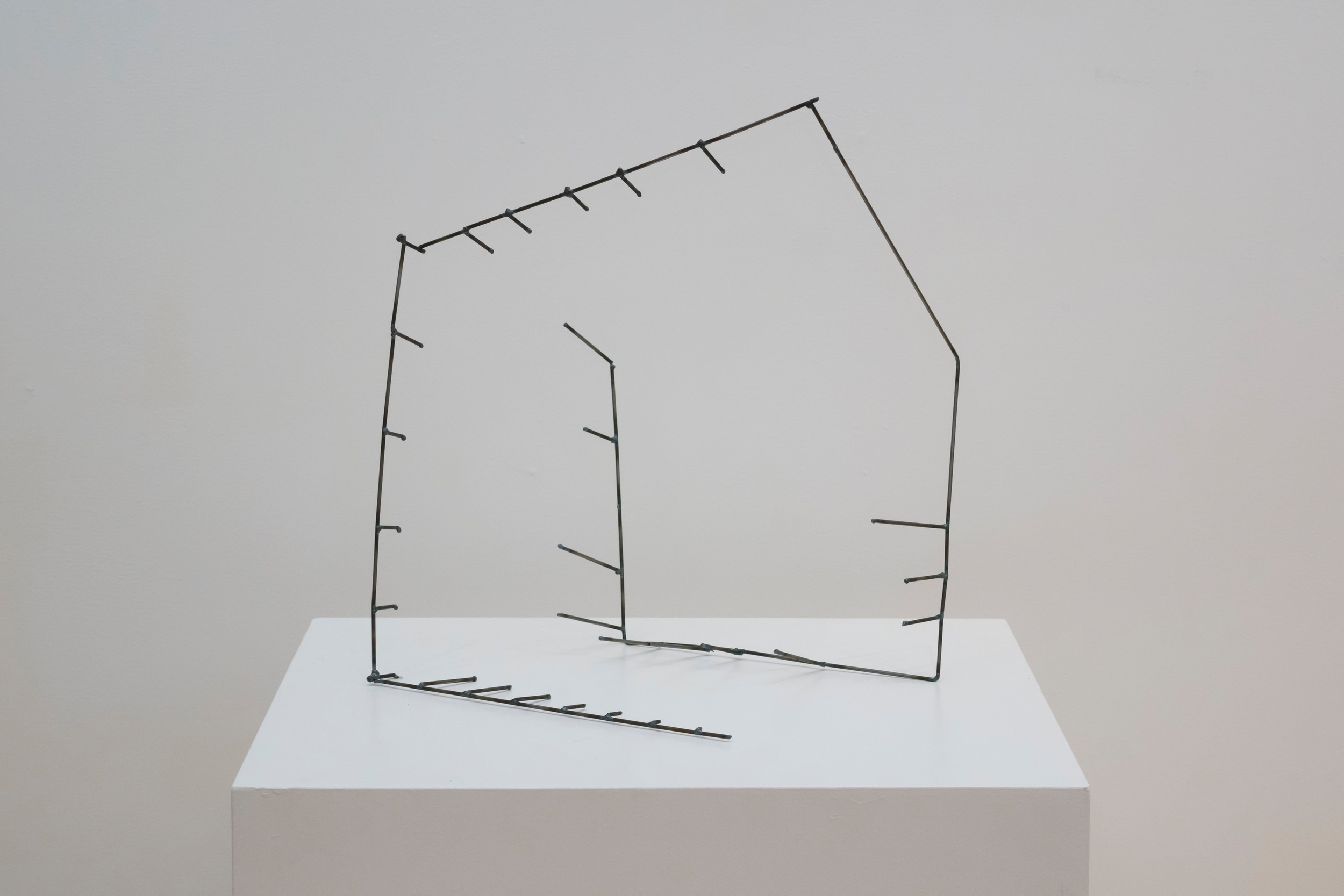 """Open Cage: Cube,  2015  Steel, 17"""" x 17"""" x 14"""""""