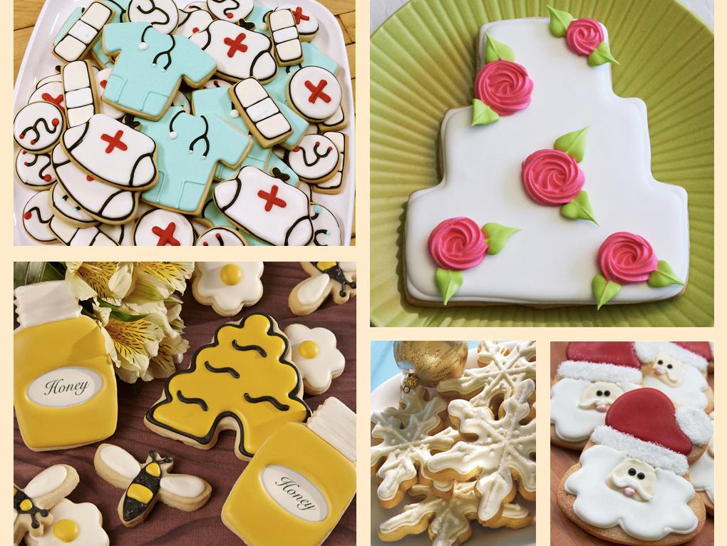 006_medical_wedding cake_bee hive_christmas_santa cookies.jpg