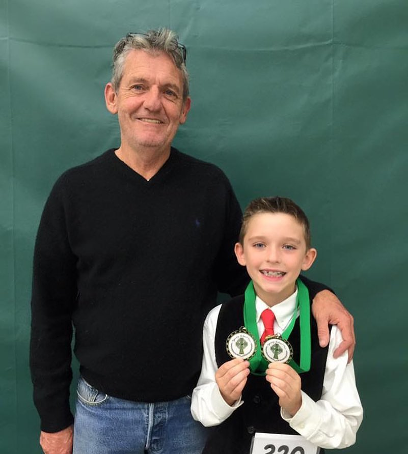 mr. murphy & joseph at his first feis