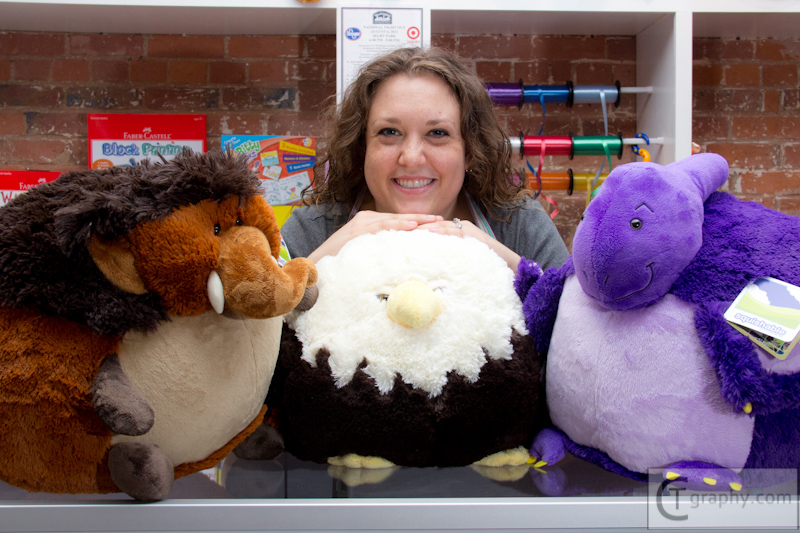 Store Manager Katie Wood and some of her friends!