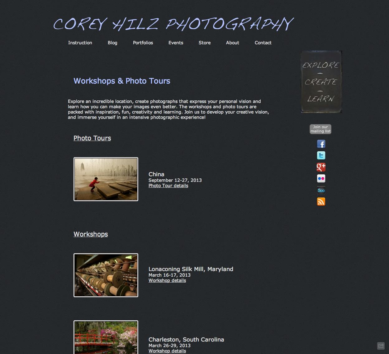 Corey Hilz Workshops