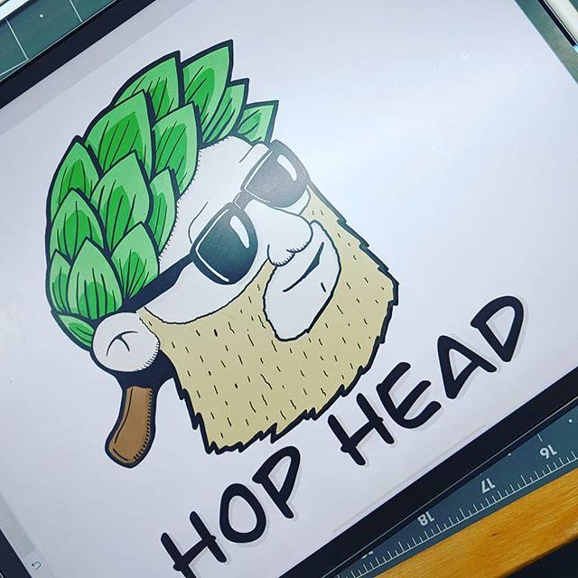 Just messing around with the iPad Pro.  #hops #beer #labeldesign #hophead #illustration #digitalart #digitalpainting #ipadart # ipadsketch #procreate