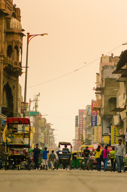 View of Main Bazaar, Paharganj, New Delhi