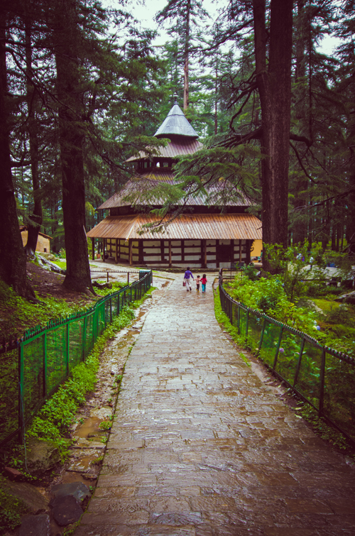 Looking back toward Hidimba Devi