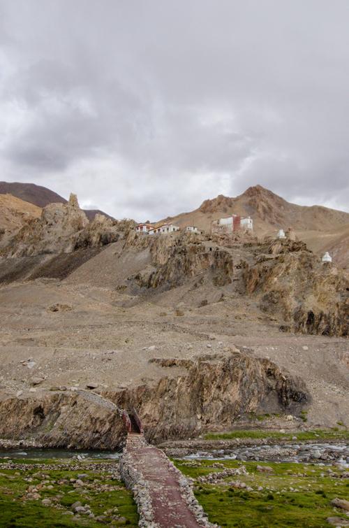 Small gompa in a small Ladakhi village near Leh
