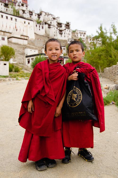 Two novice monks