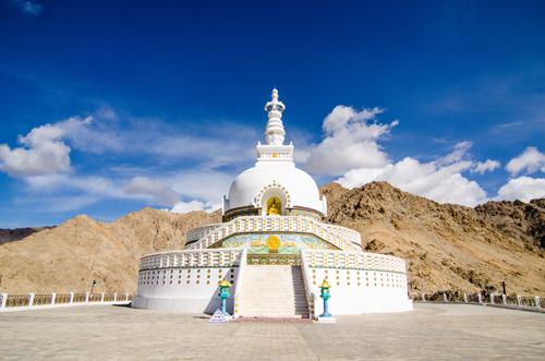 Shanti Stupa, built in 1991 by the Japanese Buddhist, Bhikshu Gyomyo Nakamura