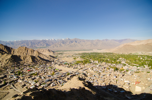 View of Leh from the top of Tsemo ridge