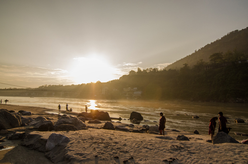 The Ganges just before sunset