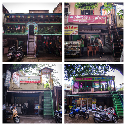 The four main cafes, which all overlook the Ganga