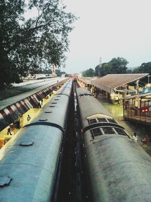 Departing for Delhi - Haridwar train station at dawn