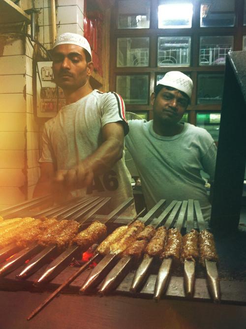 The kebab department at Karim's