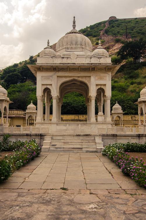 Maharaja Sawai Jai Singh II's pure white marble cenotaph