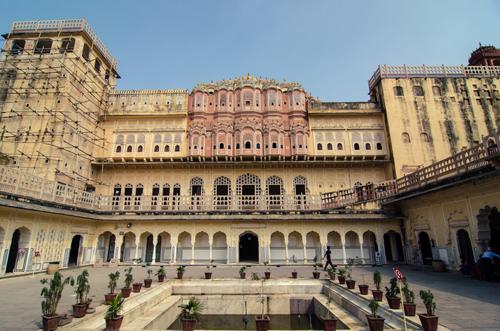 Internal courtyard of the Hawa Mahal