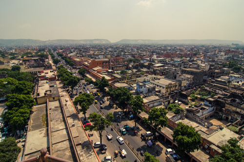 View of Jaipur from the top of Iswari's Minar