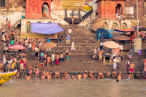 The ghats from the river