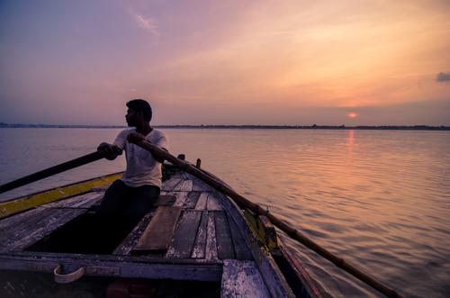 Boat ride at dawn