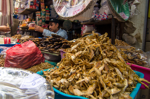 Dried fish stall