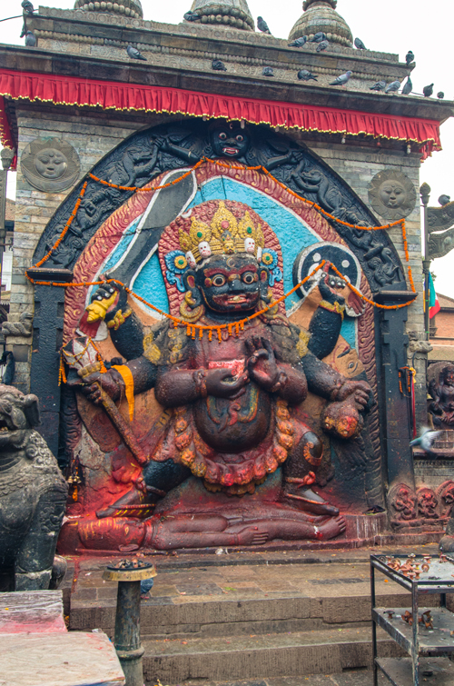 Sculpture of Bhairav (Shiva in his destructive manifestation)