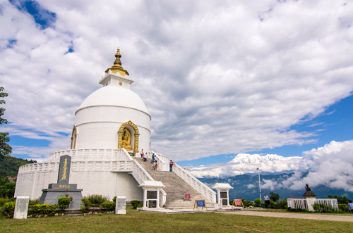 World Peace Pagoda (built by the same Japanese Buddhist who built Shanti Stupa in Leh)