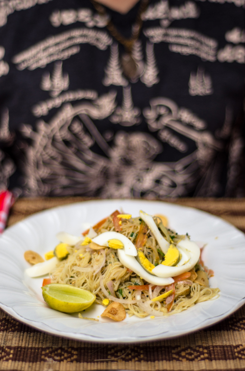 Noodle salad at Be Kind to Animals: The Moon in Bagan.