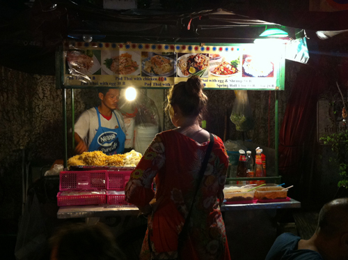Pad Thai stall on Ram Buttri (5 baht cheaper than the stalls on Khao San of course)