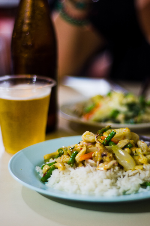 Green curry and Chang!