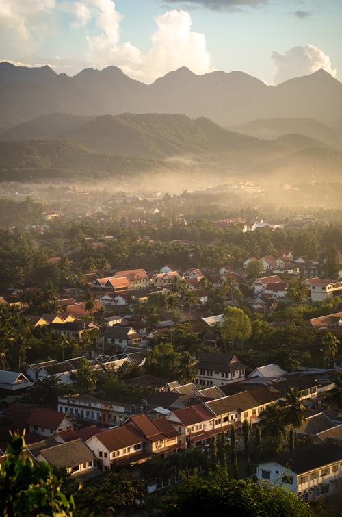 Overlooking Luang Prabang from Phou Si