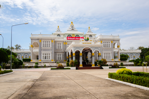 Presidential Palace with the incredible fusion architecture of old Indochina