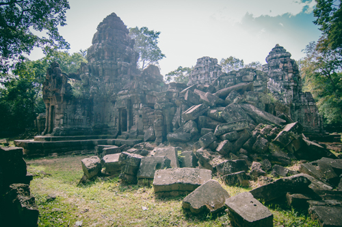Preah Khan was once a university as well as a temple, and its cruciform structure makes it an incredibly easy place to get lost in