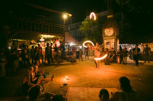 Fire show at Otres Market