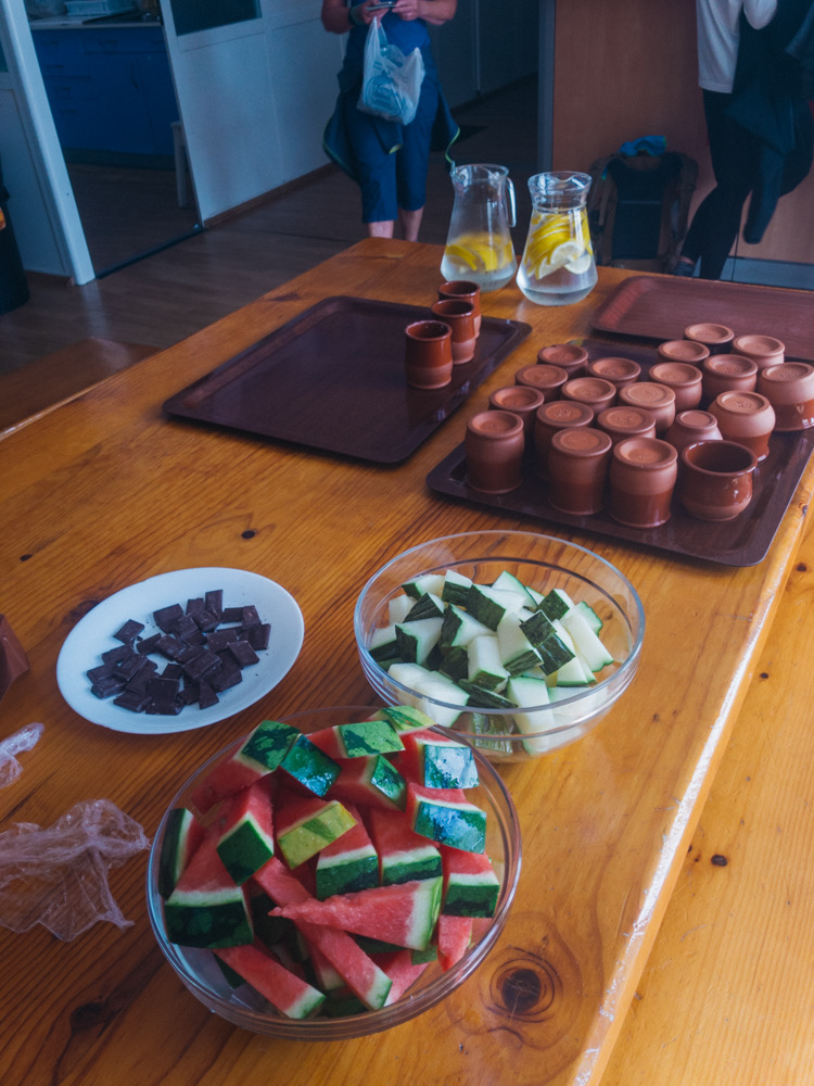 Hospitality upon arrival at the albergue in Najera