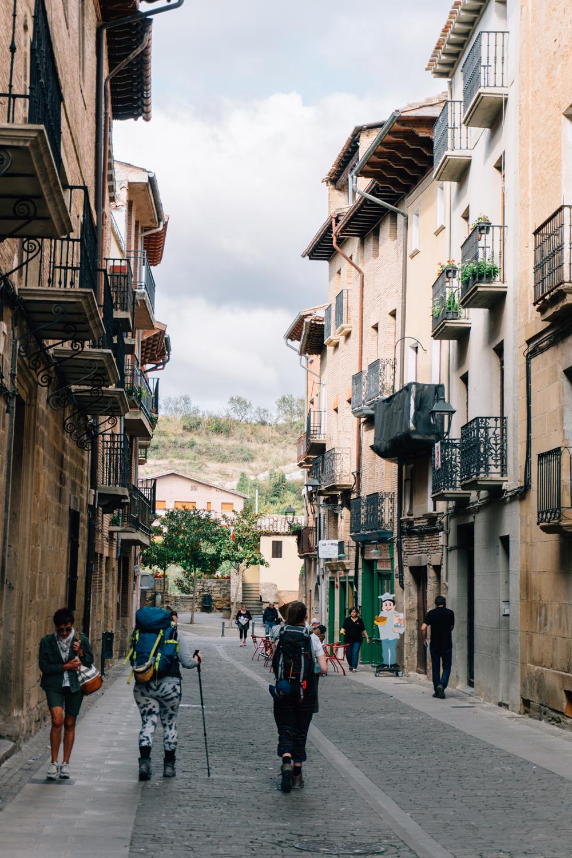 Walking through Puente la Reina
