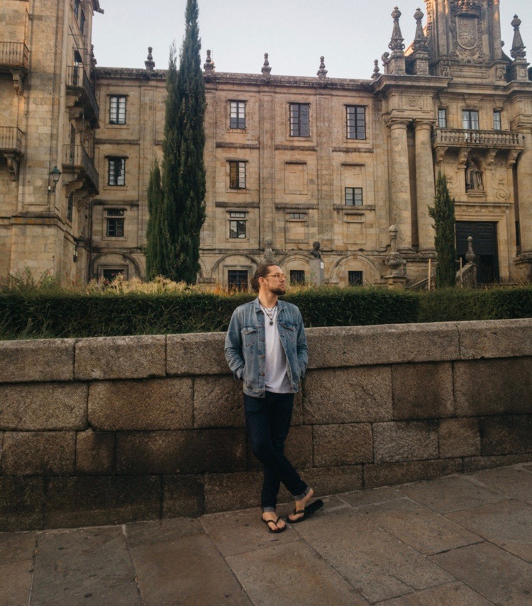 In Santiago de Compostela, the day after we arrived