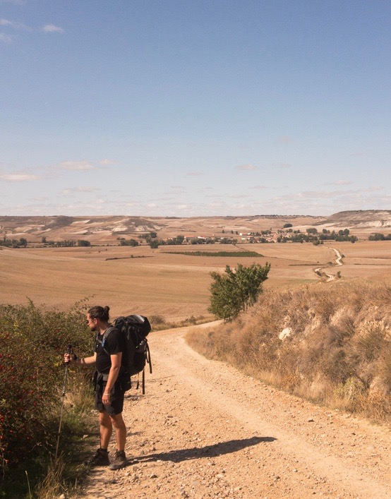 First day back on the road after time off for injury in Burgos