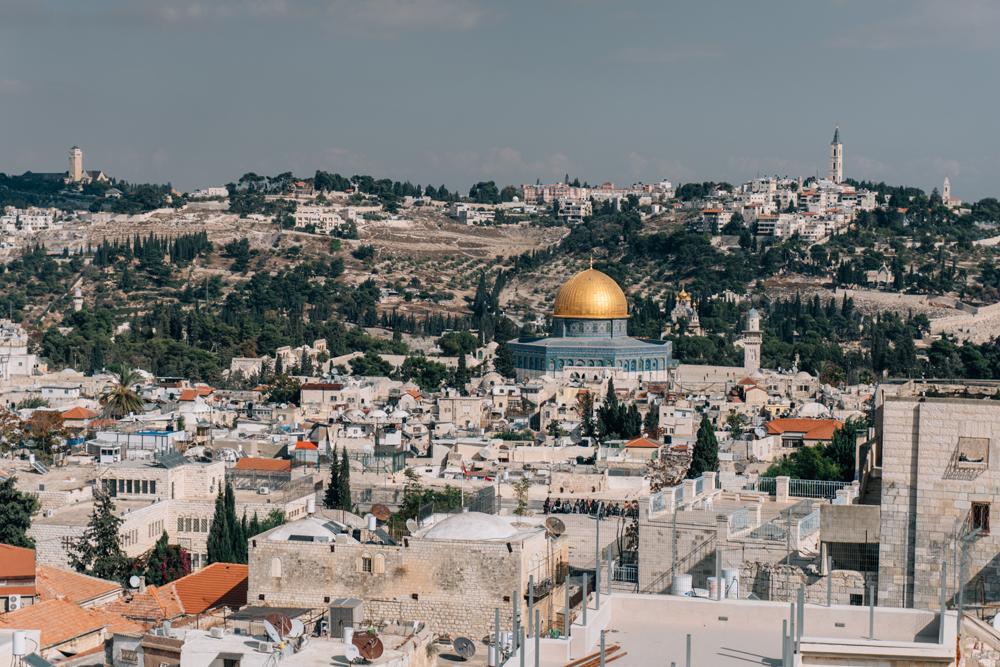 View of Jerusalem toward Mount of Olives