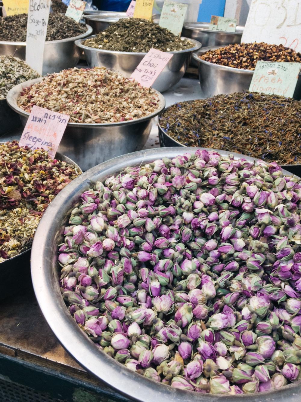 Tea stall at Mahane Yehuda market