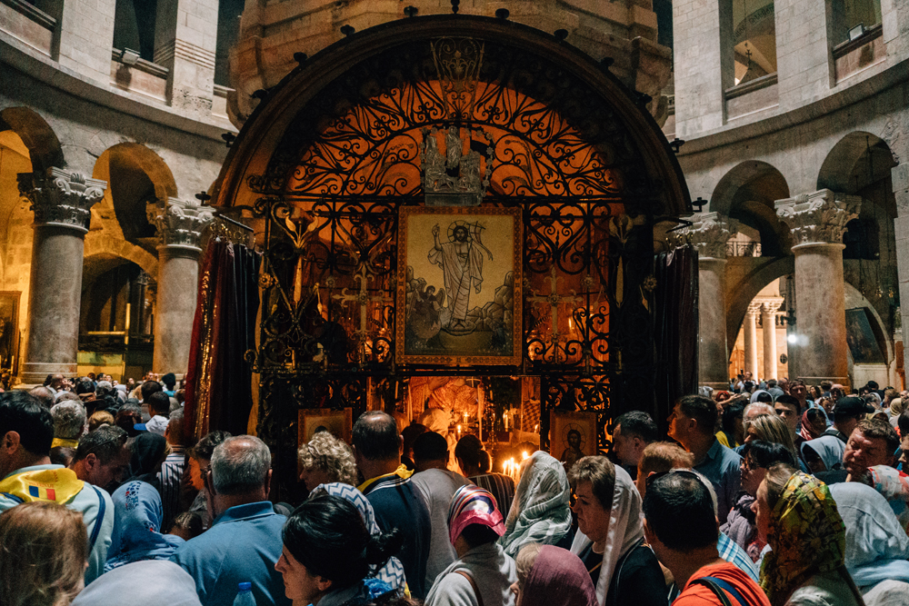 The tomb of Christ, inside the Church of the Holy Sepulchre