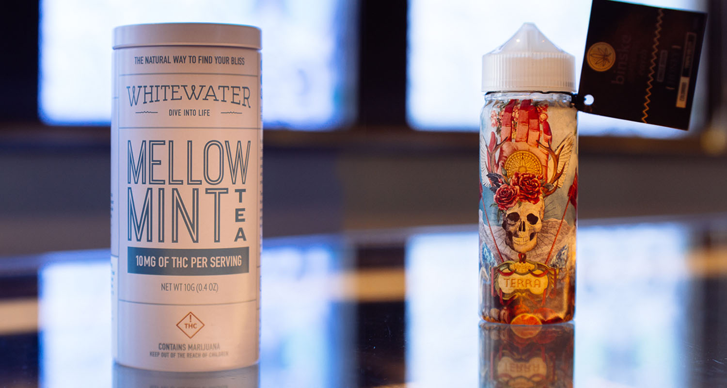 Colorado Harvest Company: This dispensary is one of the oldest and most knowledgable in Denver, perhaps in the world. Buy the  Whitewater Mellow Mint Tea  and combine with  Binske Terra Honey and a physchedelic folk LP.