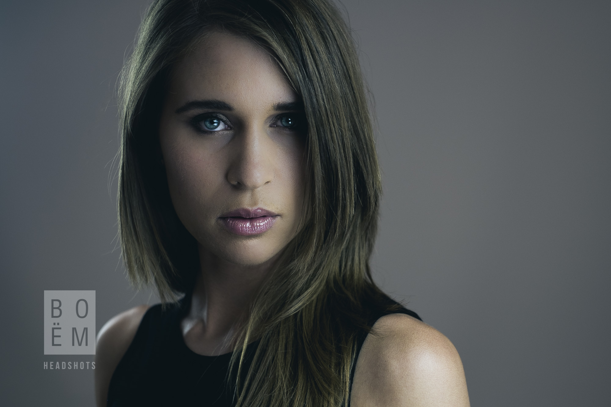 A professional headshot session with Amy, a process engineer and model in Adelaide.