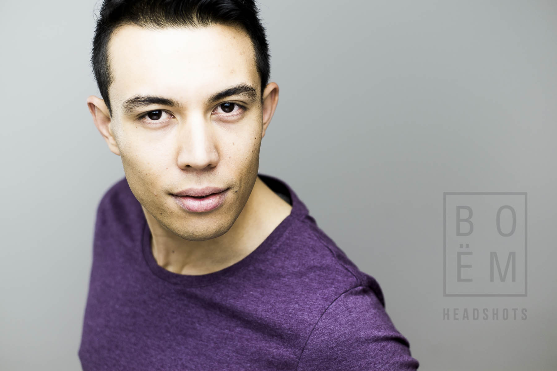 A professional headshot for George, an Engineer-slash-model in studio by Andre Goosen for Boem Headshot, the premier headshot photographer in Adelaide. Get yours done now.