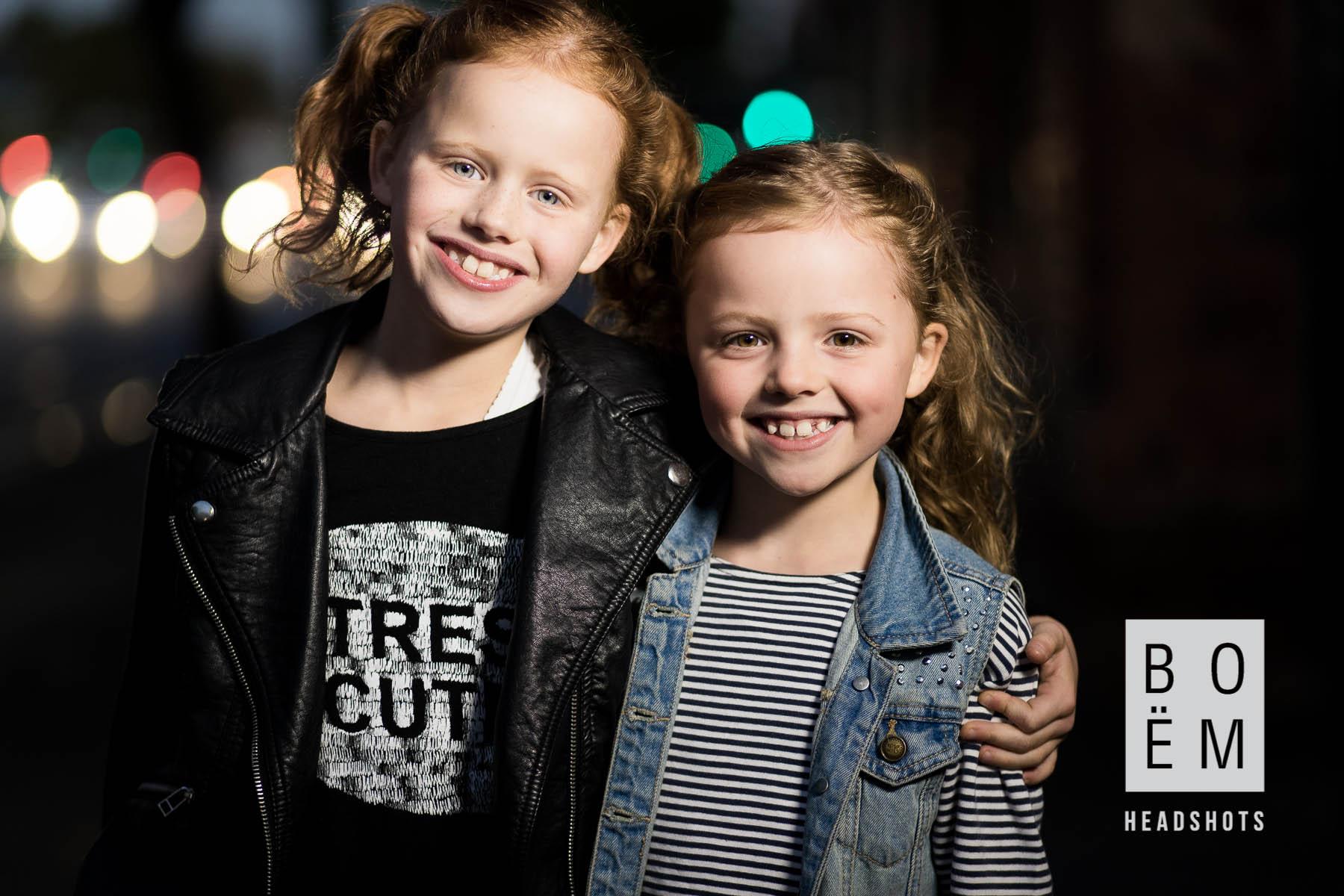 A Headshot session for two of theprettiest little girls I've ever seen here in Adelaide by Andre Goosen for Boem Headshots, The premier headshot photographer.