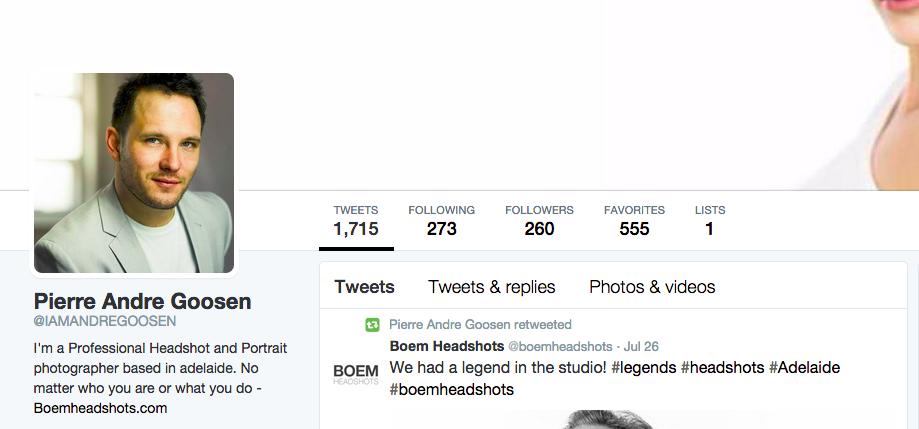 The twitter headshot