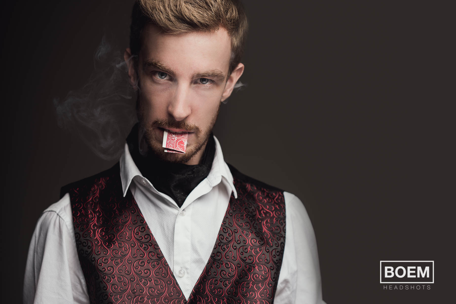 Jason is an awesome magician and performer here in adelaide who needed a few more styled images for his posters and marketing materials. This is actually a crop from a larger image and i just love the intimate feel of this headshot.