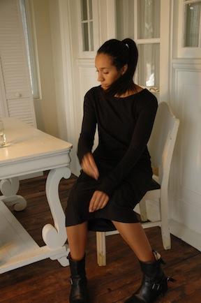 Black shop dress