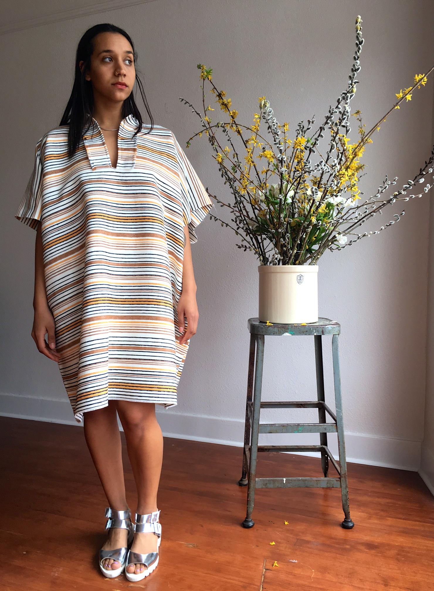 100% Cotton Poncho dress 185.00