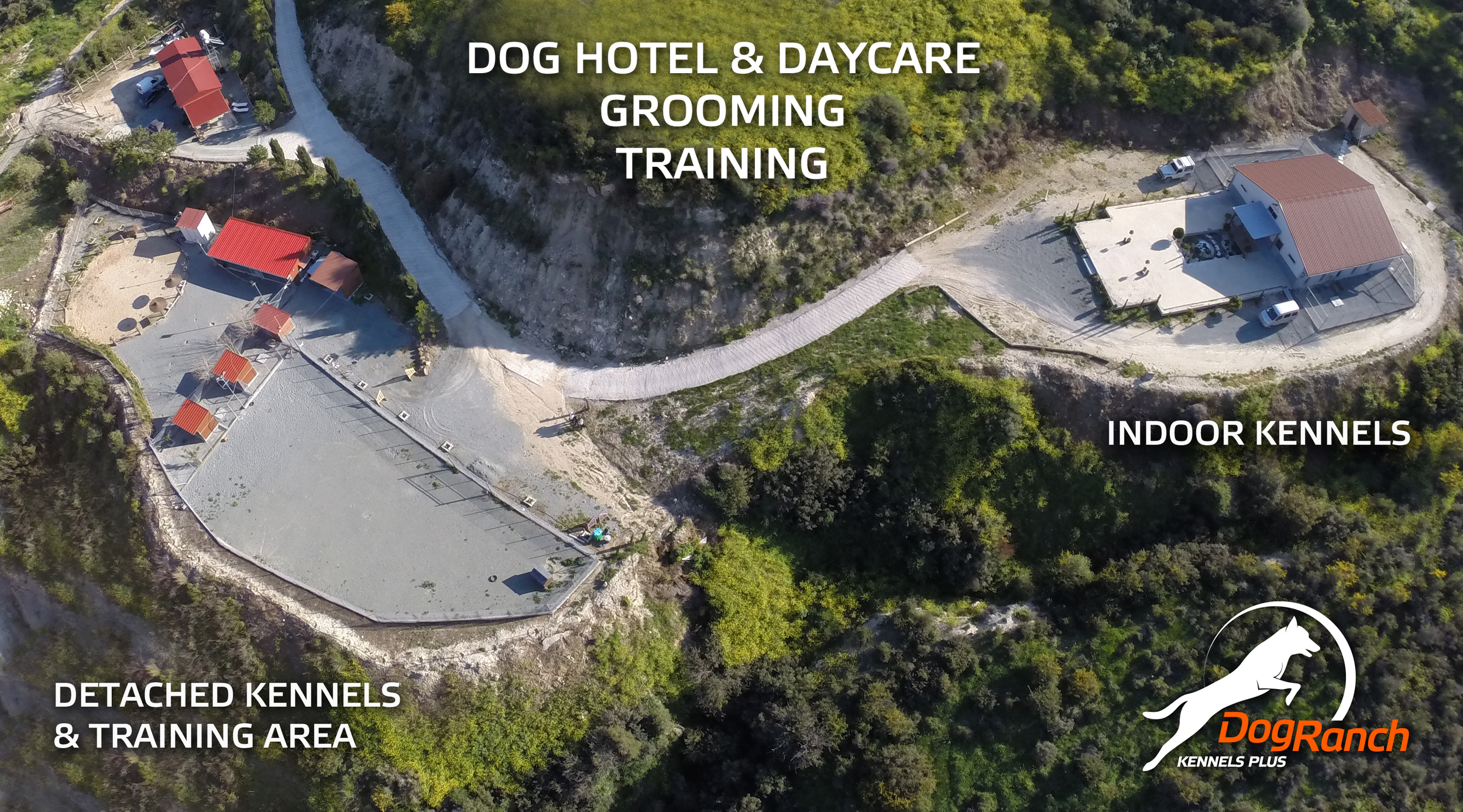 DOG RANCH - CYPRUS DOG HOTEL | INDOOR BOARDING KENNELS | DETACHED OUTDOOR BOARDING KENNELS
