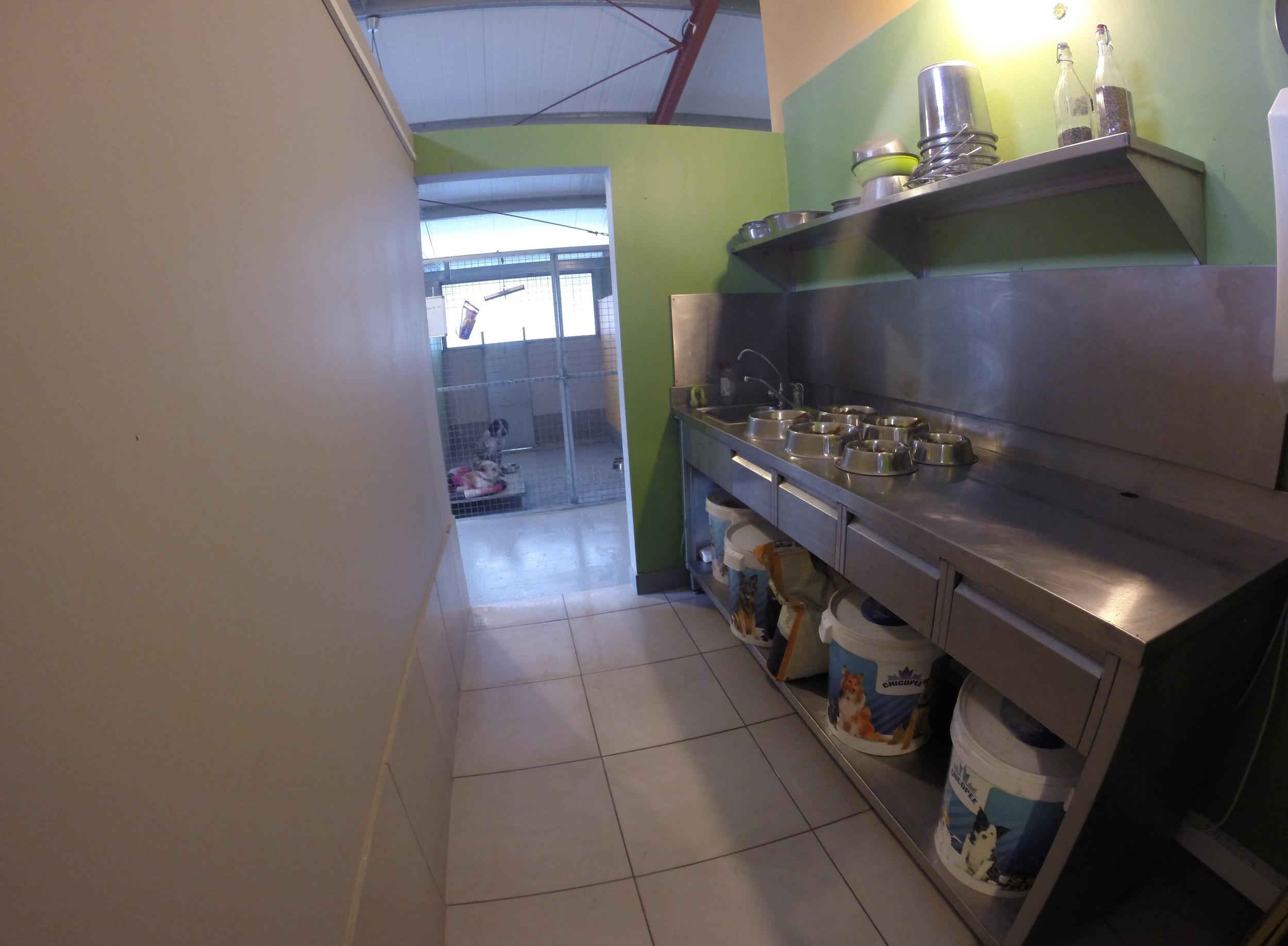 Dog Ranch | Cyprus Dog Hotel | Indoor Boarding Kennels | Kitchen area