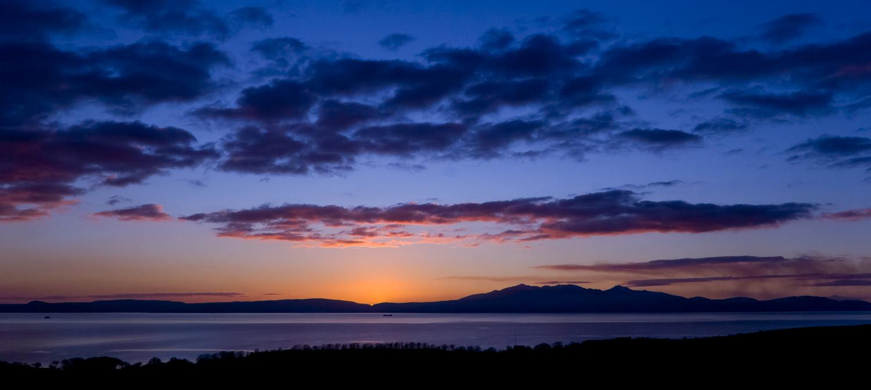 Isle of Arran at sunset