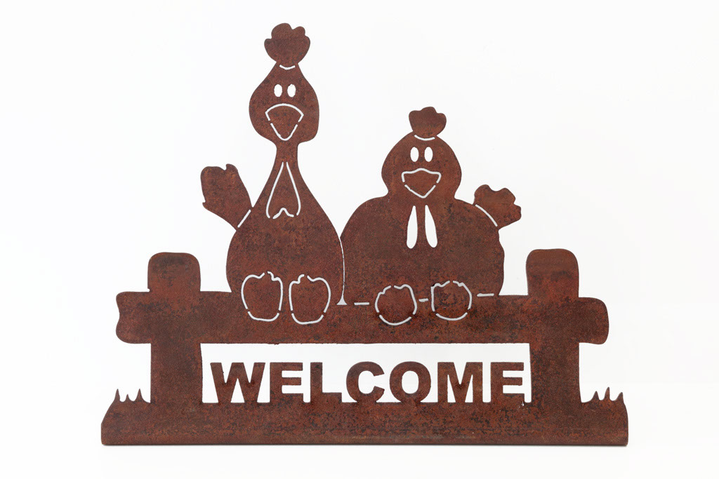 Welcome aus Corten -  Welcome in corten   Maße -  misure  :  5,0 x 25,0 x 20,0 cm, € 17,00
